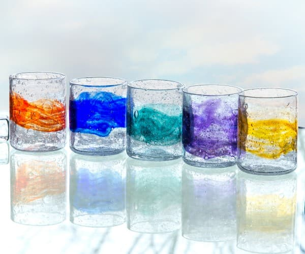 Short Organic Glass Tumblers