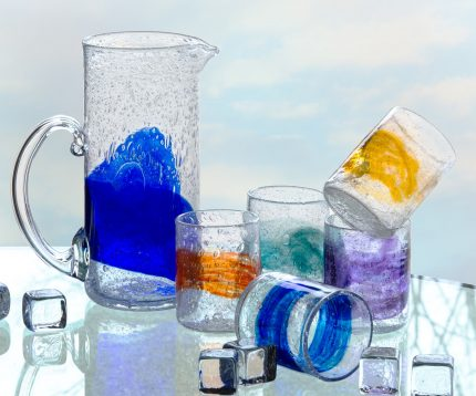Organic Glass Pitcher and glasses