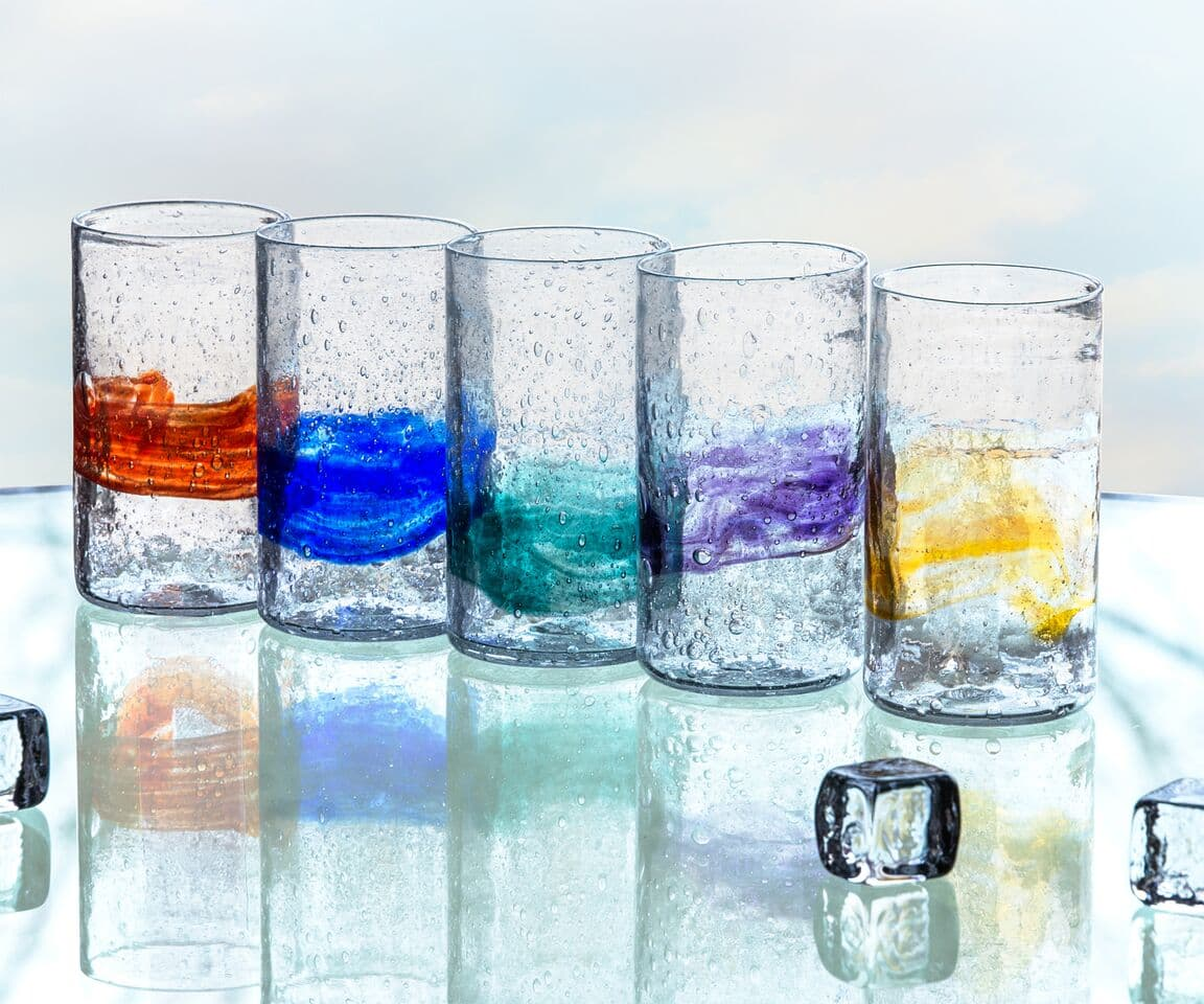 Organic Glass Tall Tumblers