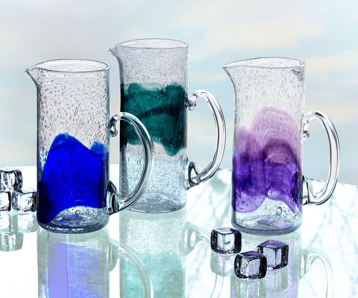 Organic Handcrafted Glass Pitchers