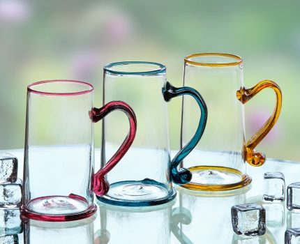 Colorful Glass Beer Steins