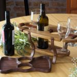Wine Caddy - Two Bottles Four Glasses