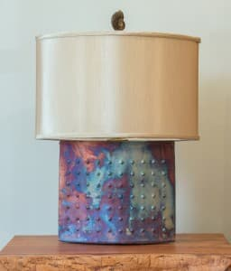 Ellipse Raku Lamp Unlit