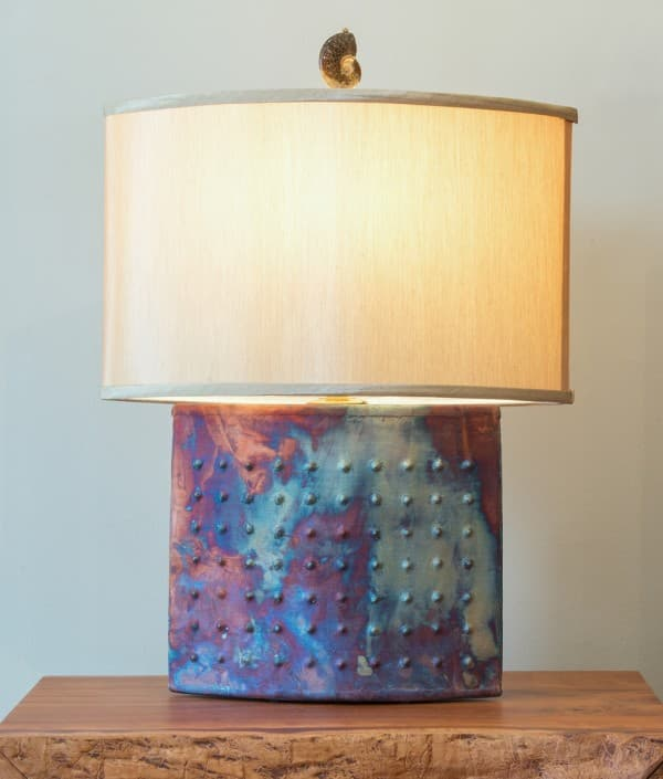 Ellipse Raku Lamp