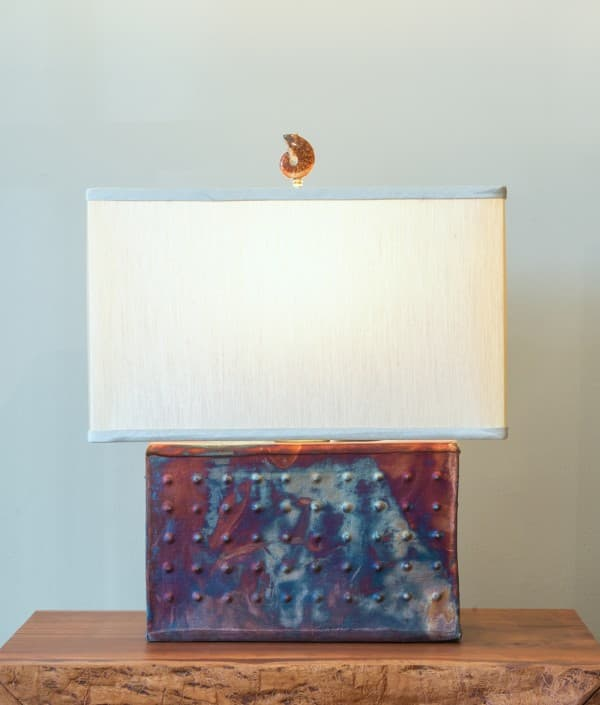 Rectangle Raku Lamp