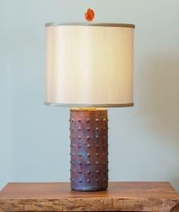 Tall Cylinder Raku Lamp