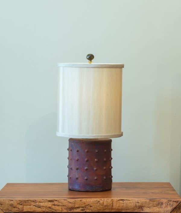 Short Cylinder Raku Lamp
