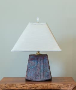Short Trapezoid Raku Lamp Unlit