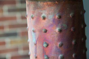 Cylinder Raku Lamp Detail