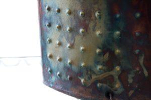 Ellipse Raku Lamp Detail