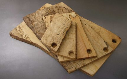 Rectangle Spalted Maple Serving Boards