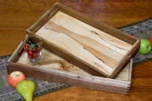 Walnut & Spalted Maple Trays
