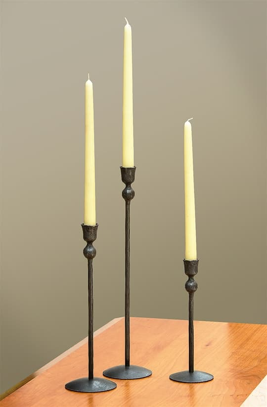 Wrought Iron Tapered Candlesticks