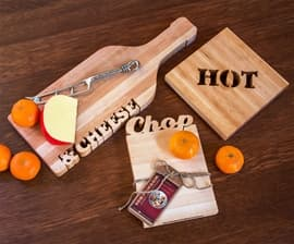Cutting Boards & Trivet with Carved Words