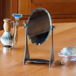 Iron Adjustable Table Mirror
