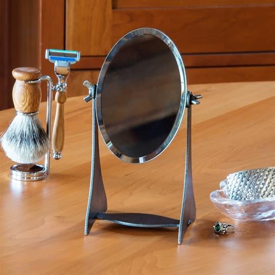 Iron Adjustable Table Mirror
