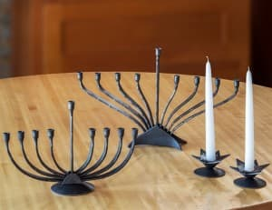 Menorahs, Sabbath Candlestick Pair