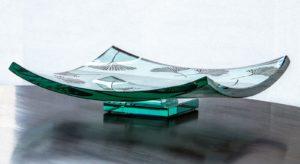 Etched Ginkgo Platter