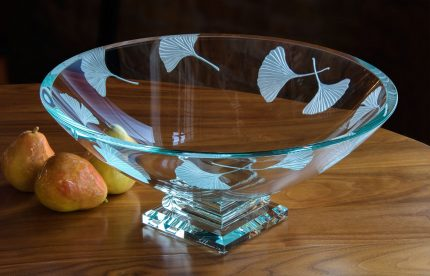 Ginkgo Footed Bowl