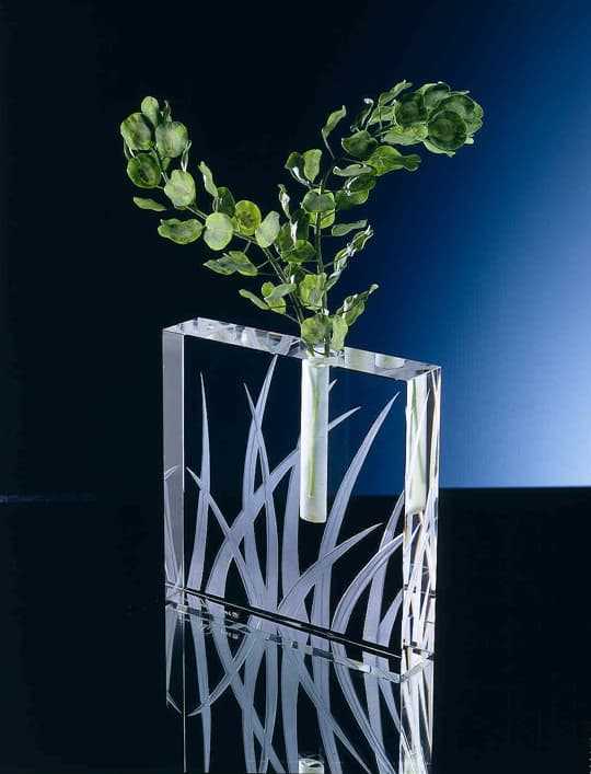 Tall Grass Square Bud Vase