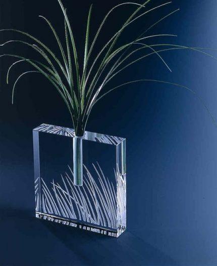 Medium Grass Square Bud Vase