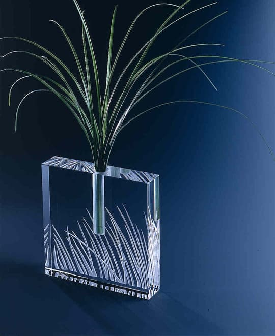 Medium Grass Square Bud Vase