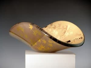Gold Japanese Maple Bowl