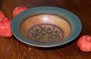 Serving Bowl in Tan & Ash Glaze
