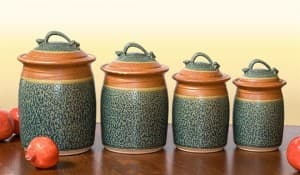 Canister Set in Tan & Ash Glaze