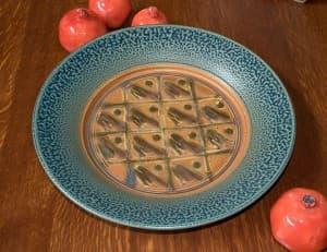 Large Platter in Tan & Ash Glaze