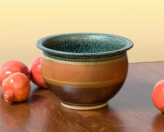 Deep Bowl in Tan & Ash Glaze