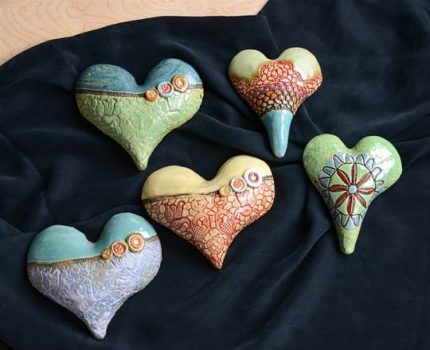 Small Ceramic Hearts