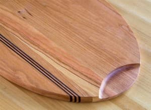 Cherry Cutting & Serving Board Detail