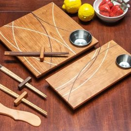 Zen Sushi Trays & Chopsticks