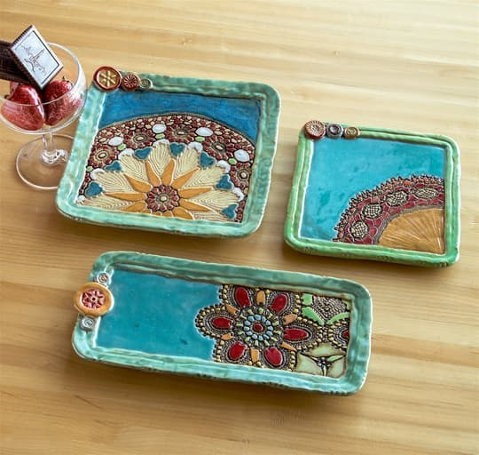 Vintage Inspired Ceramic Trays