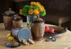 Cookie Jar in Black-Brown & Ash Glaze