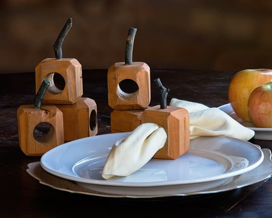 Barnbeam Pumpkin Napkin Ring Set
