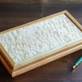 Low Quilted Maple Jewelry Box