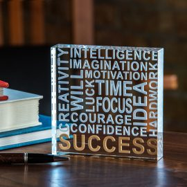 Success Paper Weight