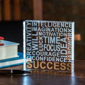 Success Paper Weight