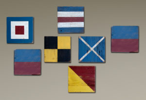 Navy Signal Flags that spell 'Welcome'