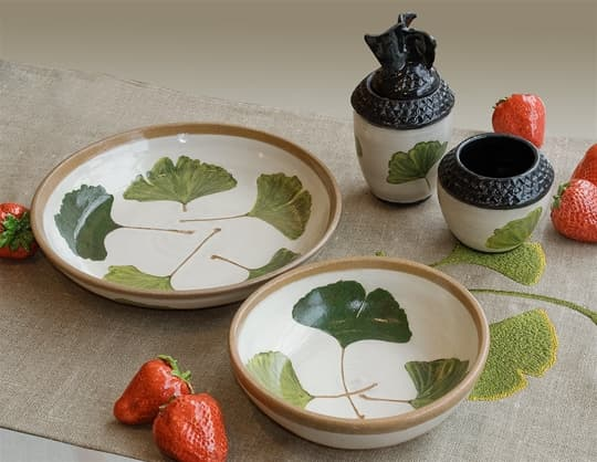 Ginkgo Serving Bowls