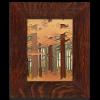 Autumn Tile in Oak Frame