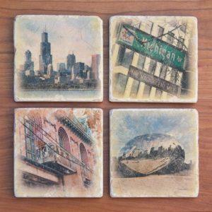 Modern Chicago Coasters