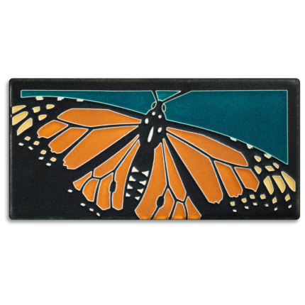 Monarch Butterfly Tile Turquoise