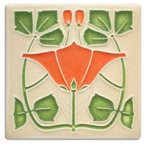 Orange Lizzie Tile