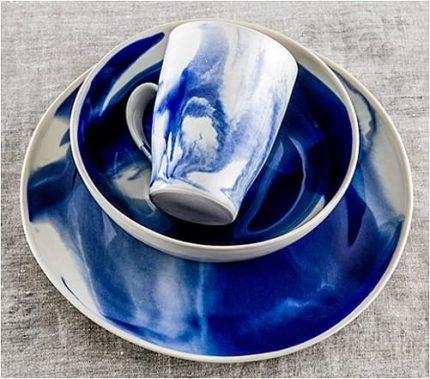 Marble Indigo Dinnerware