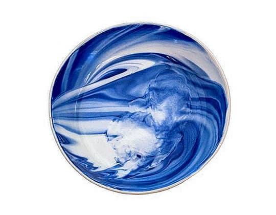 Marble Indigo Dinner Plate