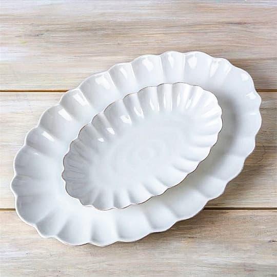 Hartland Scallop Oval Bakeware Platters