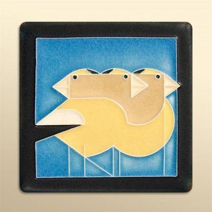 Gregarious Grosbeaks - Blue
